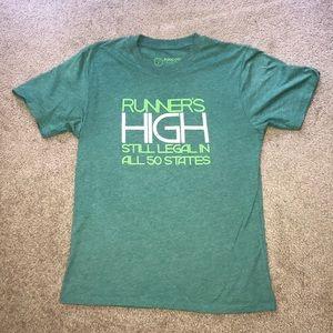 Small Green Saucony Workout Shirt